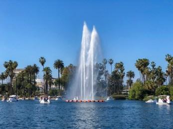 Echo Park Lake Echo Park Los Angeles California #lawithkids #echopark #familytravel #thingstodowithkidsinla