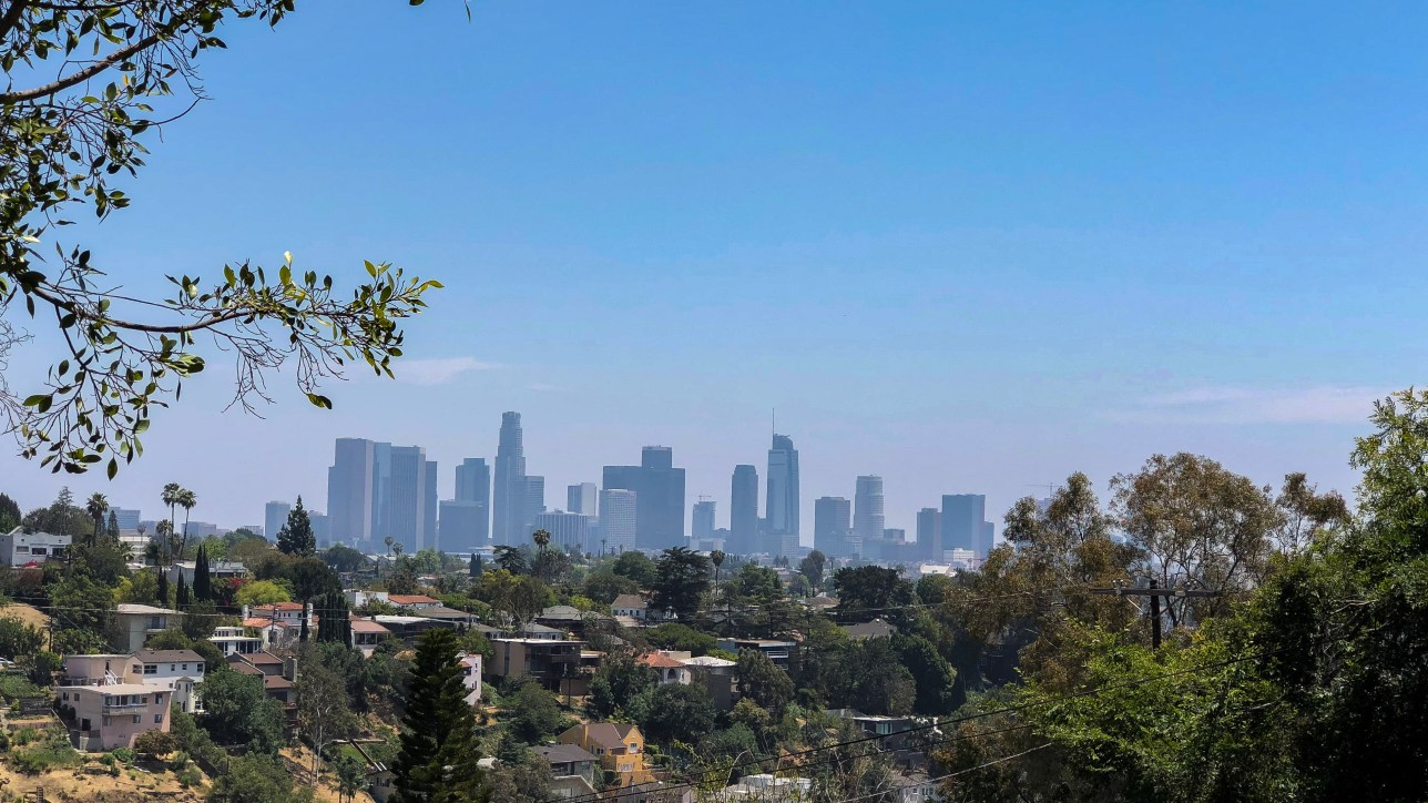 View of Downtown LA from Silver Lake