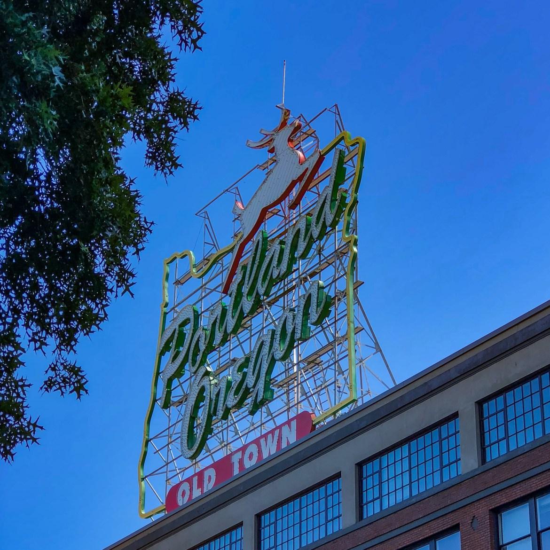 Portland Old Town Sign Portland Oregon