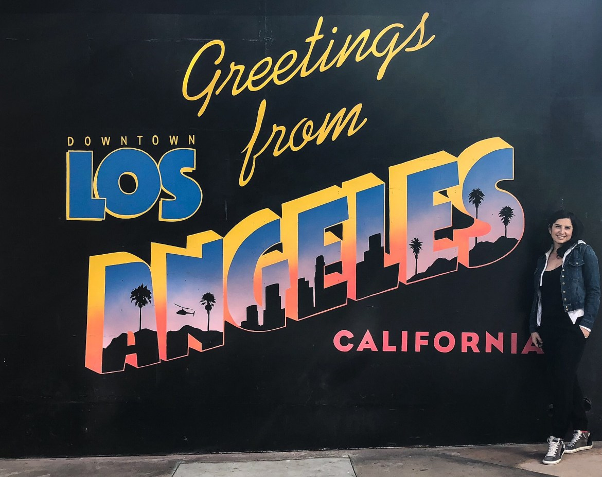 Greetings from Downtown Los Angeles California