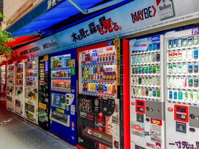 Vending machines Tokyo Japan #japan