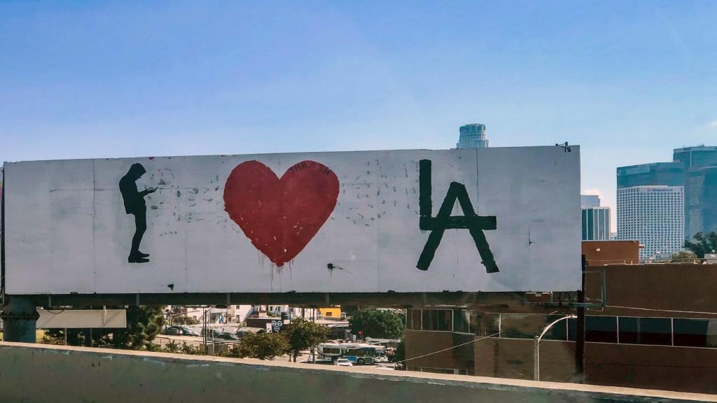 I Love LA Billboard #thrashbird