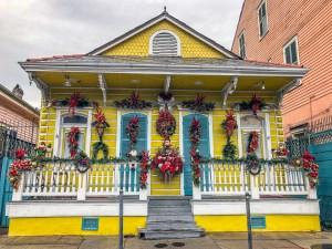 Festive House St. Anne Street New Orleans Louisiana