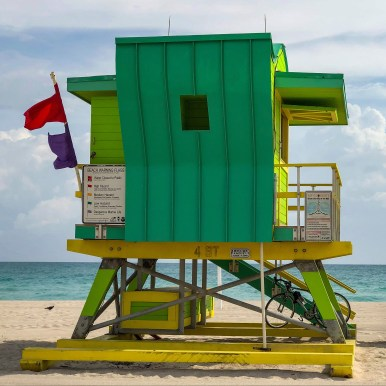 Lifeguard Tower Miami Beach Florida #southbeach