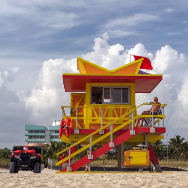 Lifeguard Tower Miami Beach Florida #southebeach