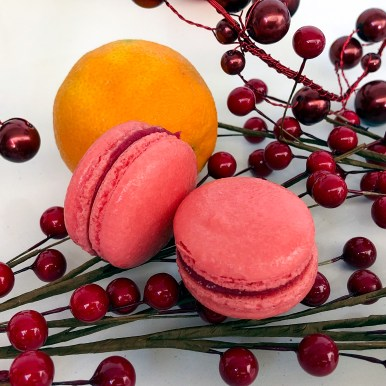Cranberry Orange French Macaron