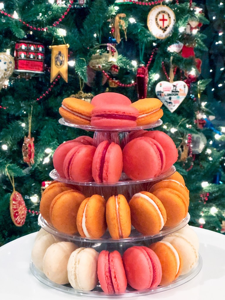Orange Cranberry, Vanilla Chocolate Ganache Pumpkin Cheesecake #frenchmacarons
