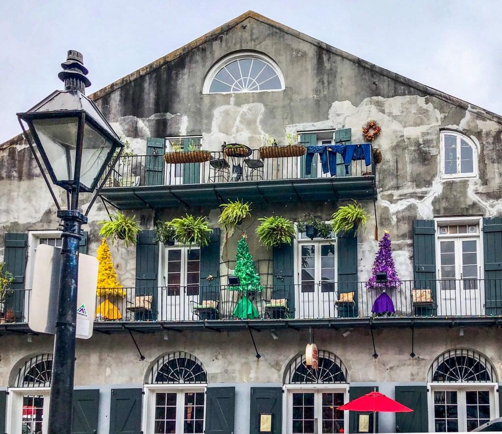 Barracks Street Rainbow Xmas Trees New Orleans