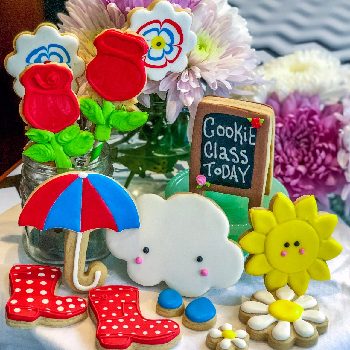 Spring Cookie Class Display Los Angeles California