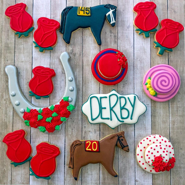 #kentuckyderby #derbyfashion #customcookies #cookiesareeverything #cookieshilarystyle
