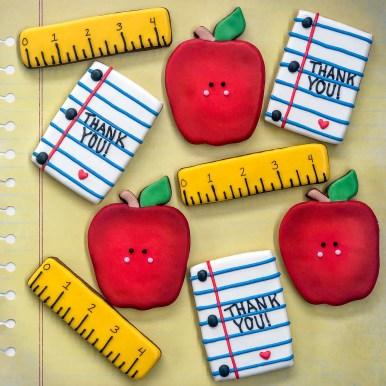 Teacher Appreciation Ruler Apple Paper-