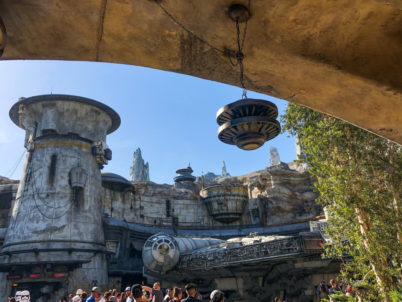 Millennium Falcom Exterior Galaxy's Edge Disneyland-