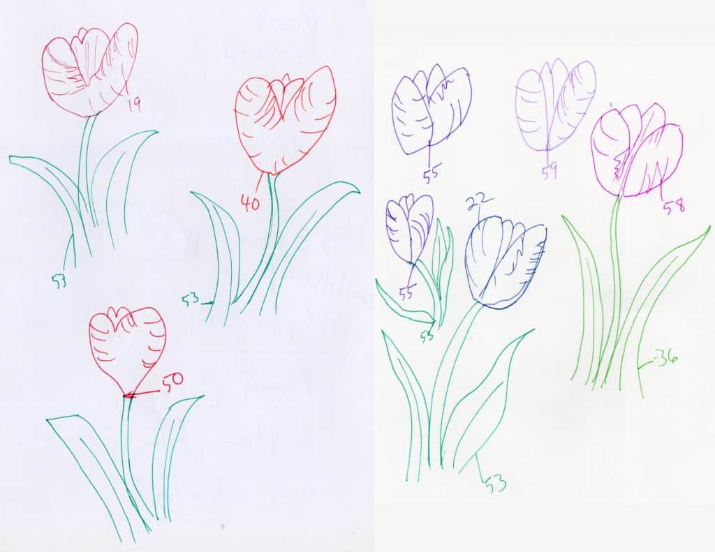 Free Printable Hand Drawn Spring Tulip Maze. Easily downloadable printable PDF format. Great Mazes for both kids & adults very challenging but fun.