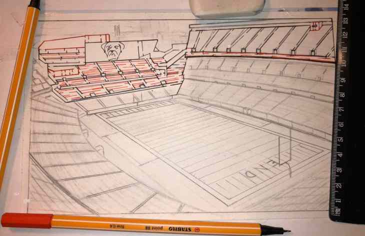Free Printable Hand Drawn Football Stadium Maze and Word Puzzle. Easily downloadable free printable PDF format. Great Mazes and Games for both kids & adults very challenging but fun.