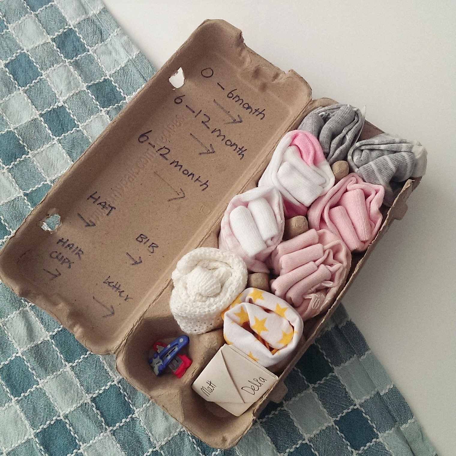 D I Y Up Cycling Egg Carton T Baby Shower Choyful