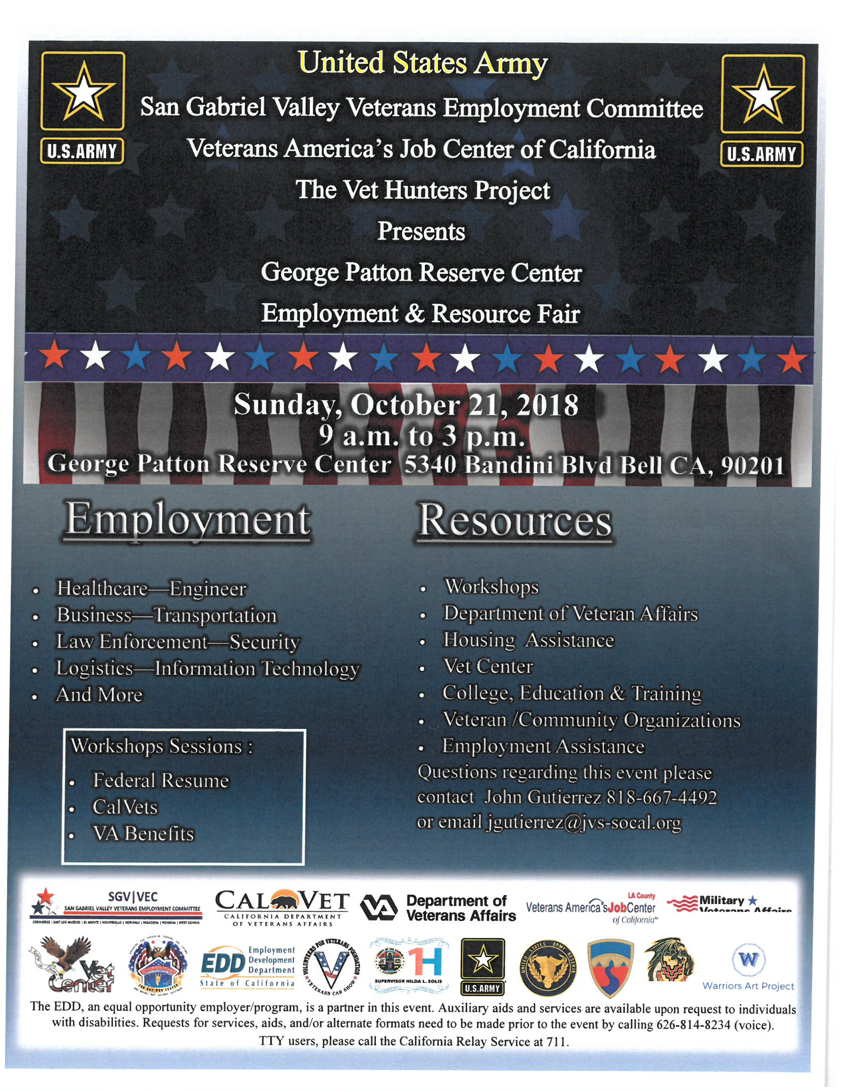 US Army Bell Resource and Employment Fair – Supervisor Hilda L Solis