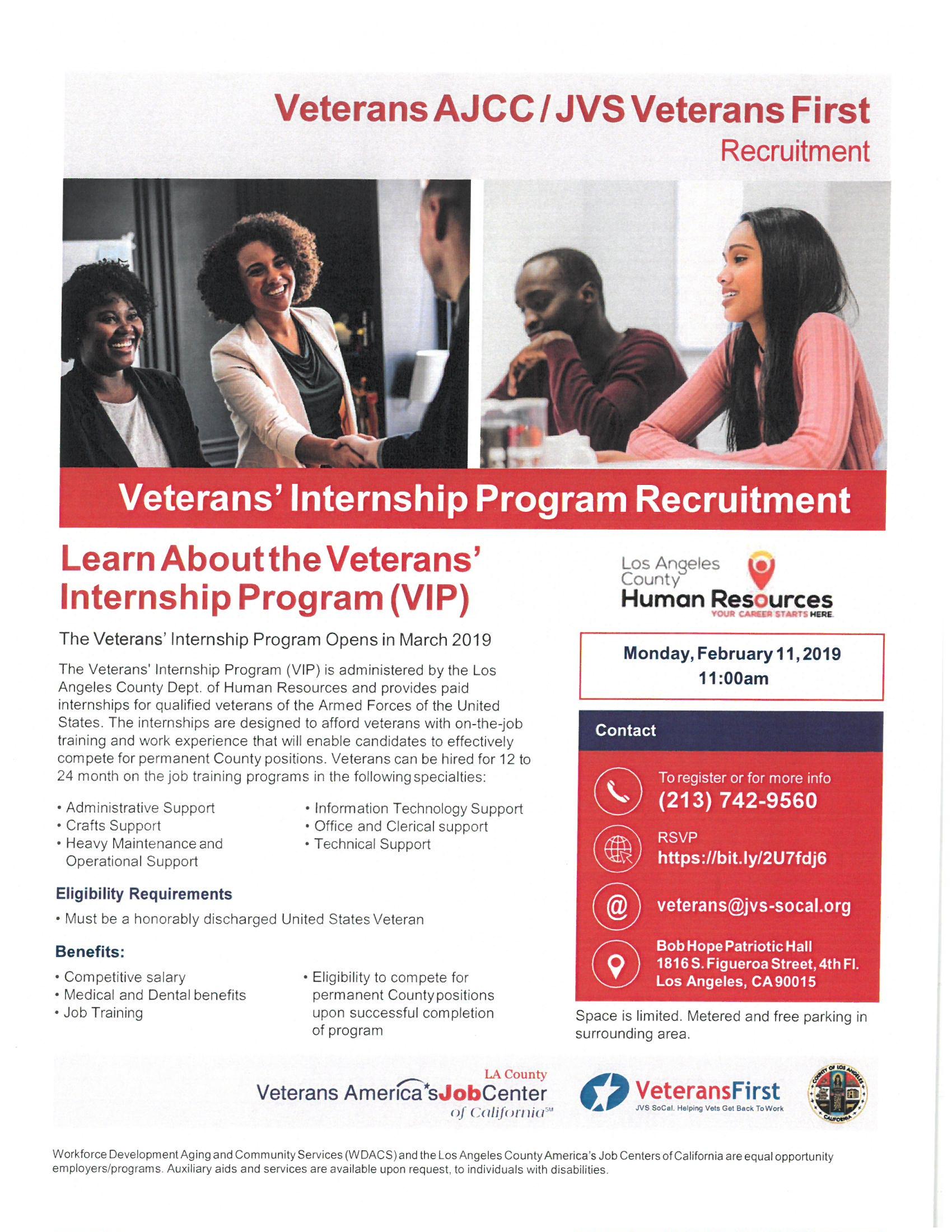 Veterans' Internship Program Recruitment – Supervisor Hilda