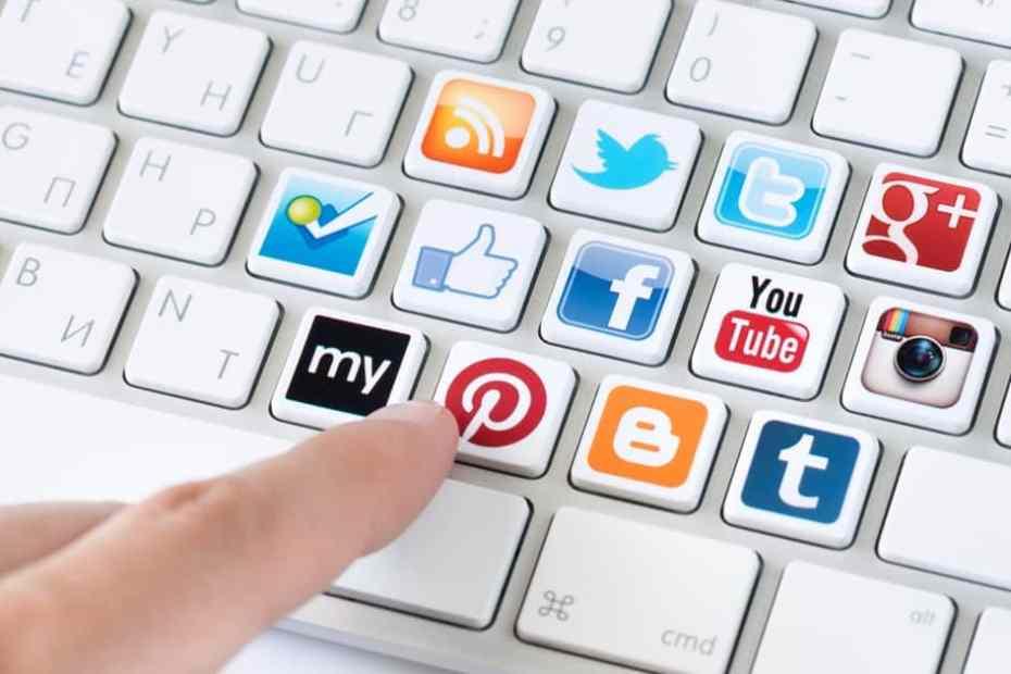 Tastatur sosiale medier