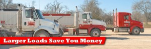 Larger Loads Save You Money