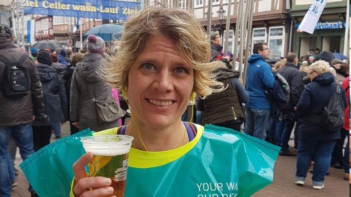 Janine Thürnau beim Celler Wasa-Lauf