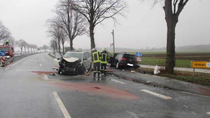 Schwerer Verkehrsunfall auf der B 6 Höhe Ahrbergen