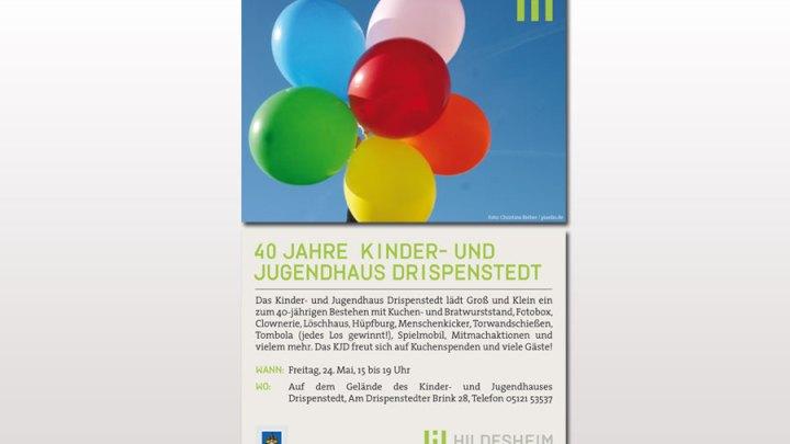 """""""40 Jahre Kinder- und Jugendhaus Drispenstedt – 1979-2019″"""