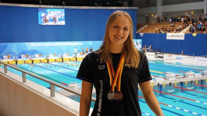 Madlen Wendland gewinnt Silber und Bronze bei den Internationalen Deutschen Kurzbahnmeisterschaften