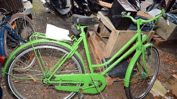 Polizei sucht Eigentümer eines grünen Fahrrades