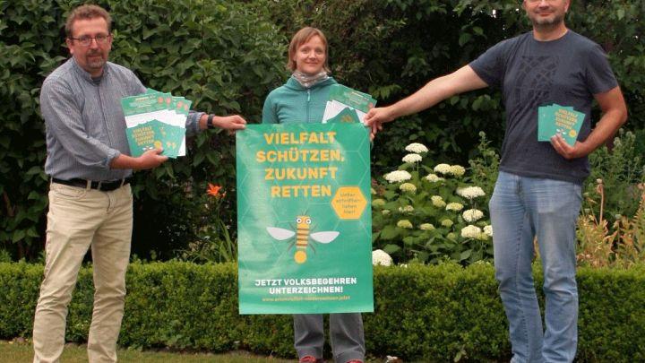 Volksbegehren Artenschutz – Grüne sammeln Unterschriften