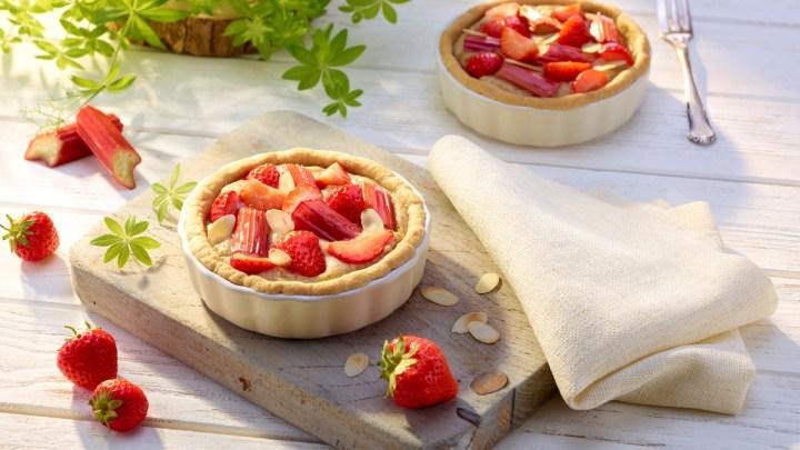 Erdbeer-Rhabarber-Mandel-Tarte