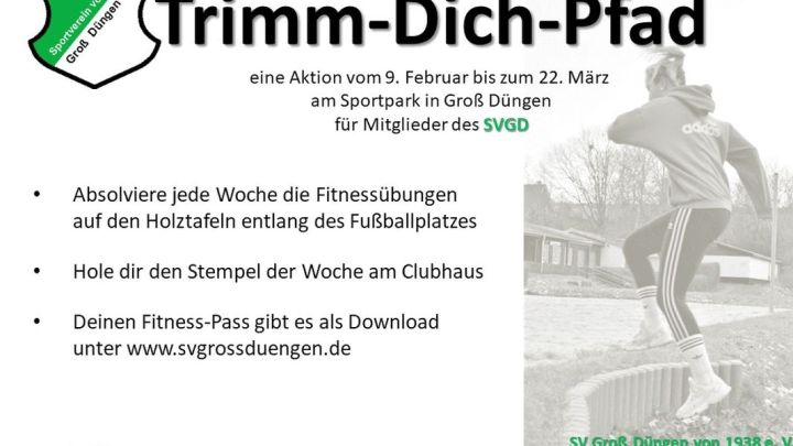 Fit gestempelt am Fußballplatz in Groß Düngen