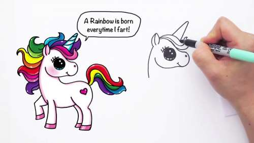 Draw So Cute Unicorn Girl Coloring Pages Free Coloring Pages