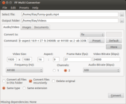 FF Multi Converter used to Convert Audio Video Image and Document Files
