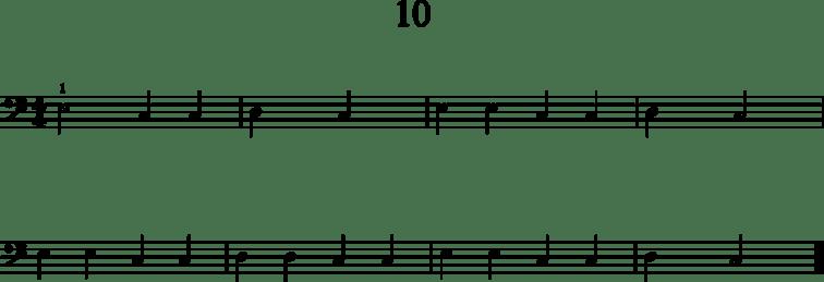 Helpot pianonuotit: 10