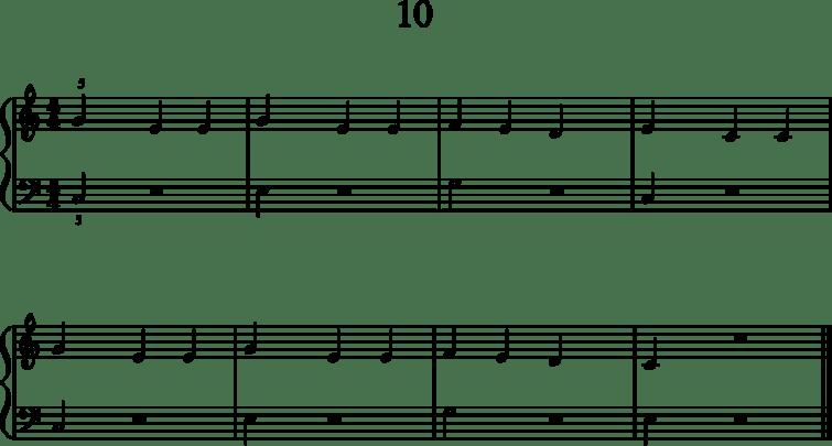 Helppoja pianonuotteja: 10