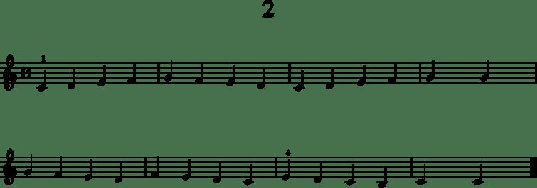 Alkeistason pianonuotteja: 2