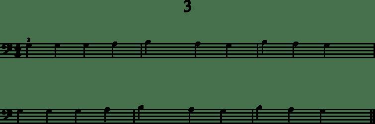 Helpot pianonuotit: 3
