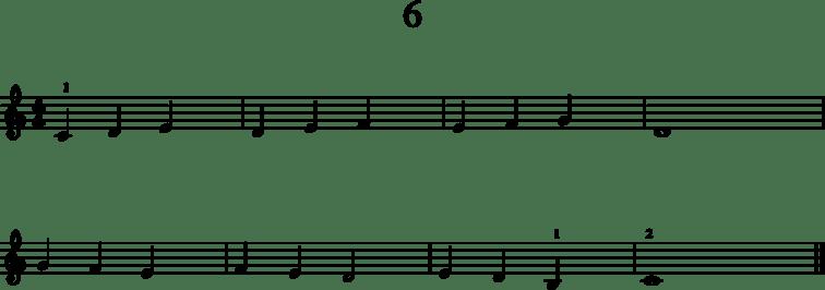 Alkeistason pianonuotteja: 6