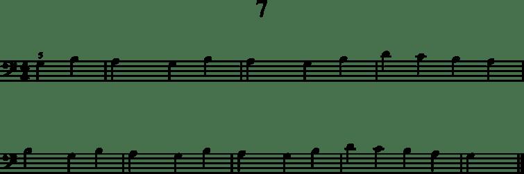 Helpot pianonuotit: 7