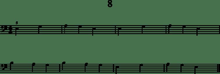 Helpot pianonuotit: 8