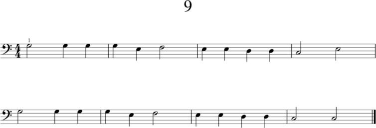 Helpot pianonuotit: 9