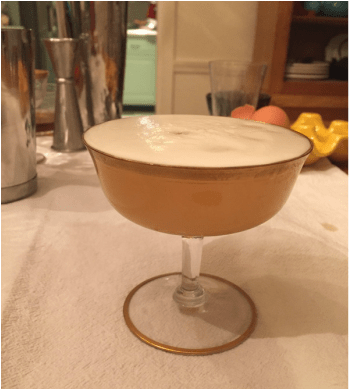 First attempt at egg white foam: Lavender Lemon Gin Fizz Cocktail