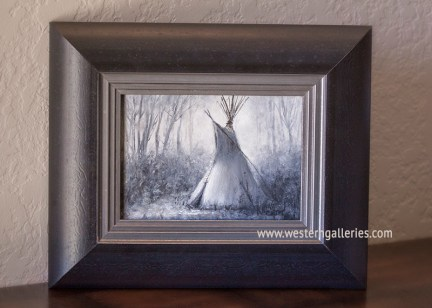 """Secluded"" B&W oil"