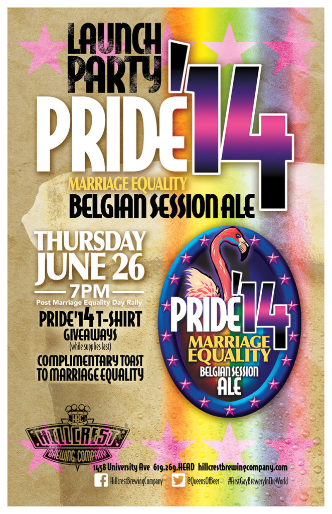 Pride '14 Beer Hillcrest Brewing Company