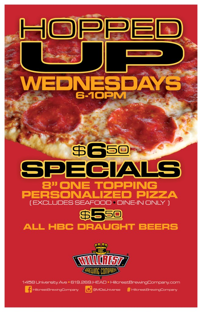 Hopped-Up-Wednesday-Specials-Hillcrest-pizza-beer