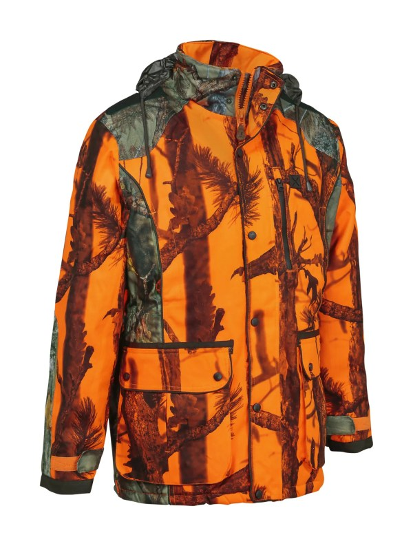 Jacka Softshell Orange Camo (Percussion)