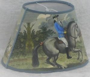 Lampskärm franska ryttare