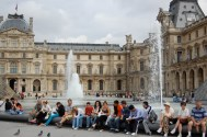 Louvre fountains