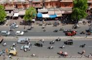 Streets of Jaipur from Hawa Mahal