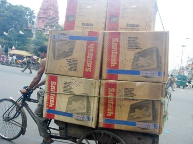 Shipping TVs by bike
